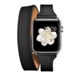 Balerion Double Tour Leather Series for apple watch 42-44mm Black