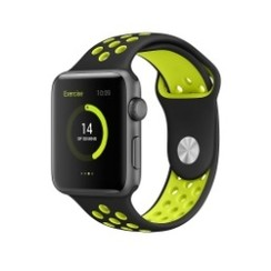 Sporty Rubber Series for Apple Watch 42-44mm Black Green