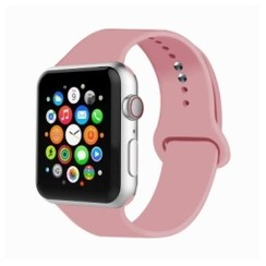 Basic Rubber Series for Apple Watch 42-44mm Light Pink