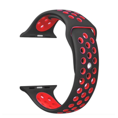 Sporty Rubber Series for Apple Watch 38-40mm Black Red