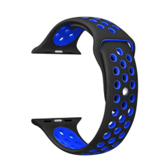 Sporty Rubber Series for Apple Watch 42-44mm Black Shockblue