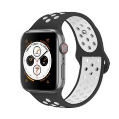 Sporty Rubber Series for Apple Watch 42-44mm Black White