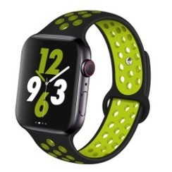 Sporty Rubber Series for Apple Watch 42-44mm Black Yellow