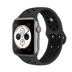 Sporty Rubber Series for Apple Watch 42-44mm Grey Black