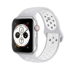 Sporty Rubber Series for Apple Watch 42-44mm Grey White