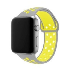 Sporty Rubber Series for Apple Watch 42-44mm Grey Yellow