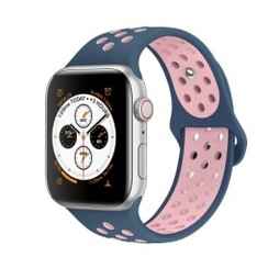 Sporty Rubber Series for Apple Watch 42-44mm Navy Blue Pink