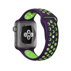 Sporty Rubber Series for Apple Watch 42-44mm Purple Green