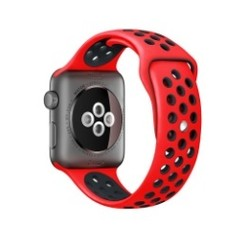 Sporty Rubber Series for Apple Watch 42-44mm Red Black