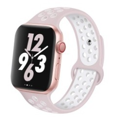 Sporty Rubber Series for Apple Watch 42-44mm Violet White