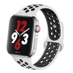 Sporty Rubber Series for Apple Watch 38-40mm White Black