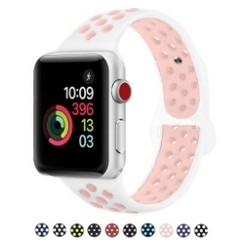 Sporty Rubber Series for Apple Watch 42-44mm White Pink