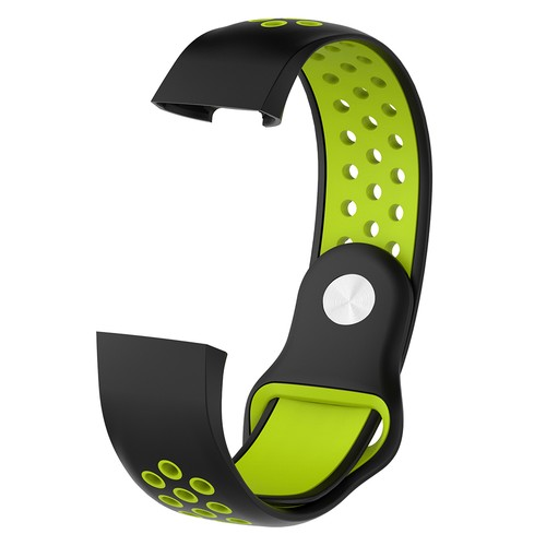 Notale Sporty Rubber Series for Fitbit Charge 3 Watch Black Green