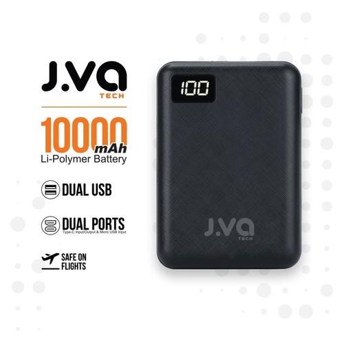 J.VA Tech 10,000mAh Dual Output 2.4A - Black (include A-to-C cable)