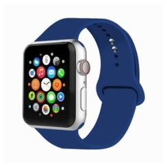 Basic Rubber Series for Apple Watch 38-40mm Ocean Blue