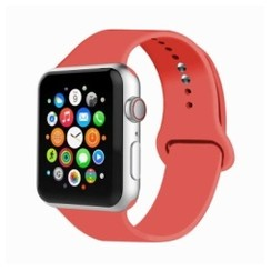 Basic Rubber Series for Apple Watch 42-44mm Pink