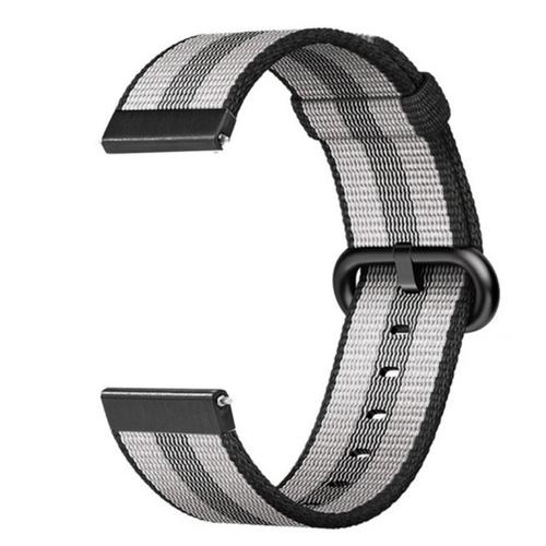 Nylon Woven Series for Smartwatch 22mm Black Stripe
