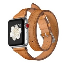 Balerion Double Tour Leather Series for apple watch  42-44mm Brown
