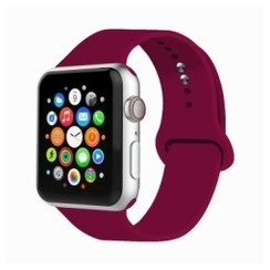 Basic Rubber Series for Apple Watch 42-44mm Rose Red