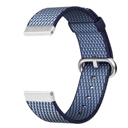 Nylon Woven Series for Smartwatch 22mm Blue Check