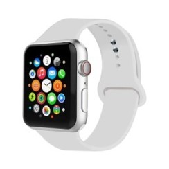 Basic Rubber Series for Apple Watch 42-44mm Soft White
