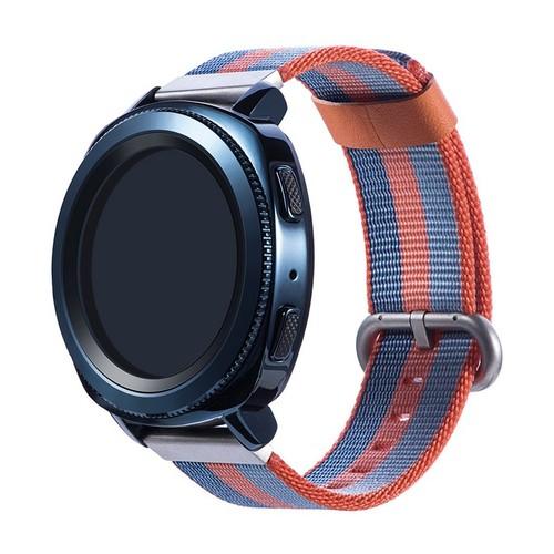 Nylon Woven Series for Smartwatch 22mm Orange Blue