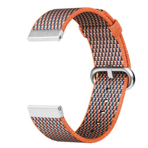 Nylon Woven Series for Smartwatch 20 mm Orange Check