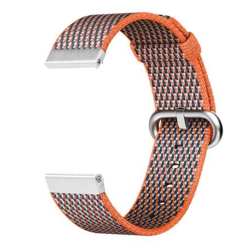 Nylon Woven Series for Smartwatch 22mm Orange Check