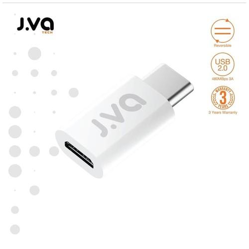 J.VA Tech Micro USB to Type-C Adapter - White