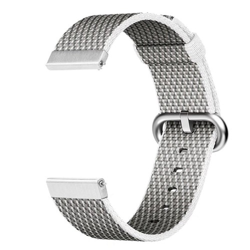 Nylon Woven Series for Smartwatch 20 mm White Check