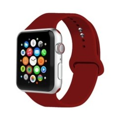 Basic Rubber Series for Apple Watch 42-44mm Wine Red