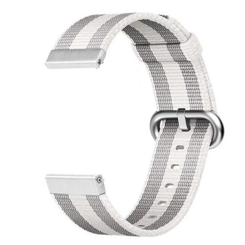 Nylon Woven Series for Smartwatch 20 mm White Stripe