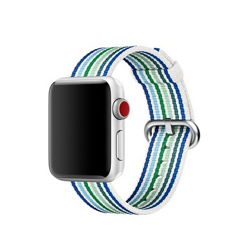 Nylon Woven Series for Smartwatch 20 mm White Blue