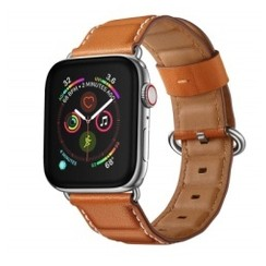 Block Leather Series for Apple Watch 42-44mm Brown