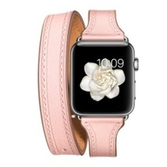 Balerion Double Tour Leather Series for apple watch  42-44mm Pink