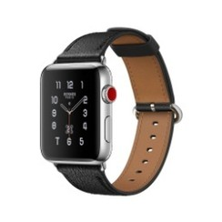 Classic Circle Leather Series for Apple Watch 38-40mm Black