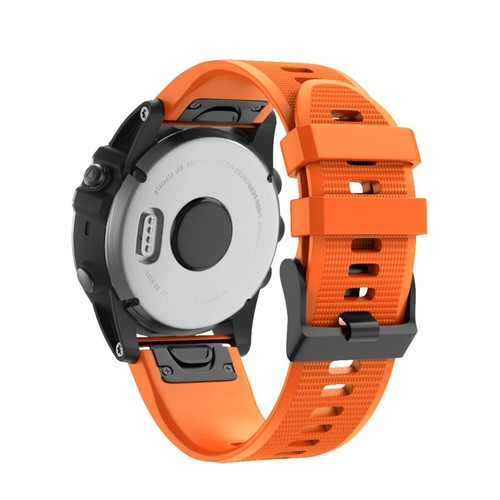 Notale Basic Rubber Series Normal Strap for Garmin 26mm Orange