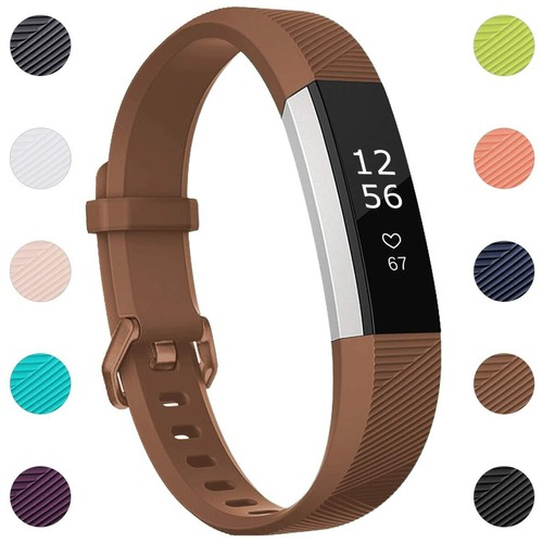 Notale Rubber Series Strap For Fitbit Alta HR Watch Brown