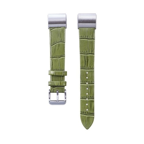 Notale Aligathor Leather Series Strap For Fitbit Charge 3 Watch Green