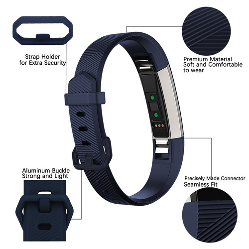 Notale Rubber Series Strap For Fitbit Alta HR Watch Navy Blue