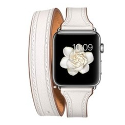Balerion Double Tour Leather Series for apple watch  42-44mm White