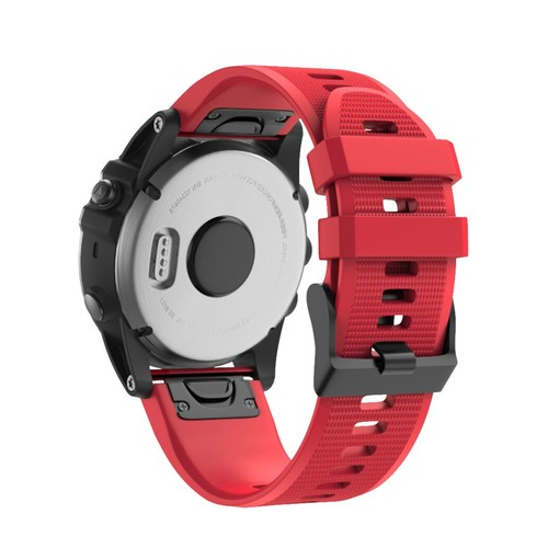 Notale Basic Rubber Series Normal Strap for Garmin 26mm Red