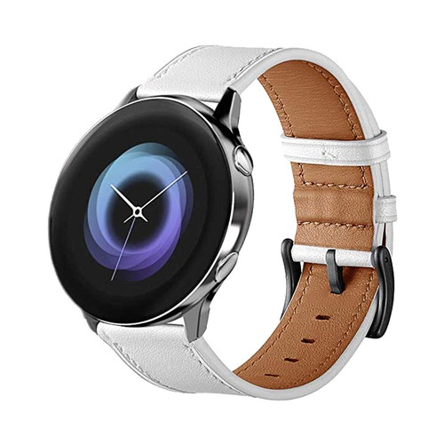 Vendito Leather Series for Smartwatch 20mm White