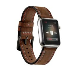 Lamboz Leather Series for apple watch 42-44mm Brown