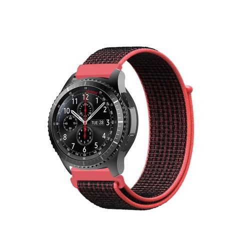 Sport Loop Series for Smartwatch 22mm Red Black
