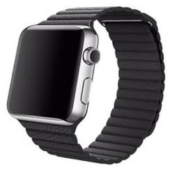 Magnetic Loop Leather Series for Apple Watch 42-44mm Black