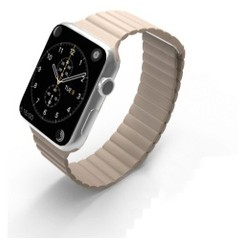Magnetic Loop Leather Series for Apple Watch 42-44mm Grey