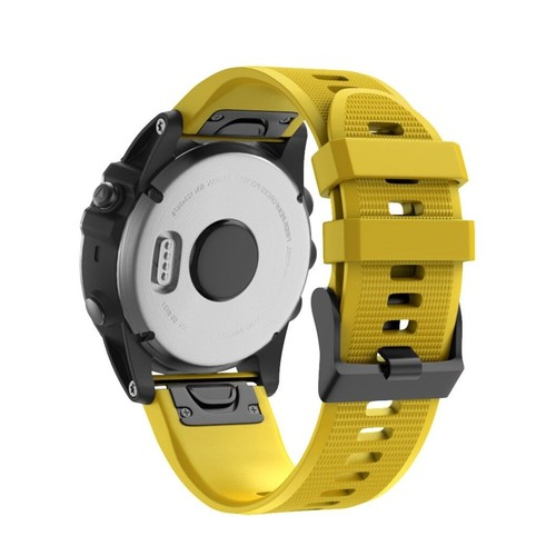Notale Basic Rubber Series Normal Strap for Garmin 26mm Yellow