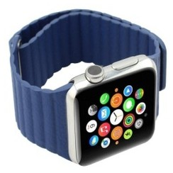 Magnetic Loop Leather Series for Apple Watch 38-40mm Navy Blue