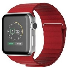 Magnetic Loop Leather Series for Apple Watch 42-44mm Red